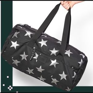 ⭐️ VS Pink ⭐️ Black Duffle with Silver Stars